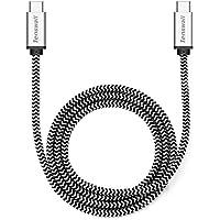 Tenswall Cavo USB C a USB 3.1 C di Nylon Intrecciato 1M Cavo Tipo C per Sicronizzazione e Ricarica per Apple New MacBook 12'', Nexus 6P, Nexus 5X, Nokia N1, OnePlus 2 e Altri Dispositivi