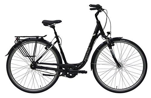 Damen City Fahrrad 28 Zoll - Pegasus Solero SL - 7 Gänge Nabenschaltung Rücktrittbremse Tiefeinstieg - black berry