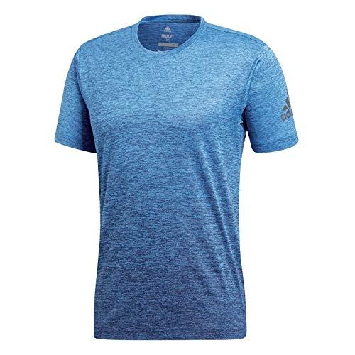 adidas Herren Freelift Gradient Kurzarm T-shirt, blau (Bright Blue/Collegiate Navy), L