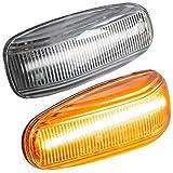 phil trade LED SEITENBLINKER kompatibel für Mercedes W202 S202 W210 S210 A208 C208 R170 KLARGLAS |7231