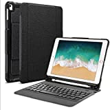 Detachable Keyboard Case for New iPad 9.7'' 2018 2017 / iPad Air 2 / iPad Air / iPad 9.7 Pro , PBELE Ultra-Slim Wireless Bluetooth Keyboard Case Cover Built-in Stand and Pencil Holder Fit for Apple iPad 6th / 5th Gen, iPad Air 1 / 2