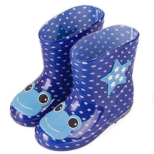 Stivali di gomma Bambino impermeabile Scarpe Bambini Stivali pioggia (Età 2-6 anni) GudeHome