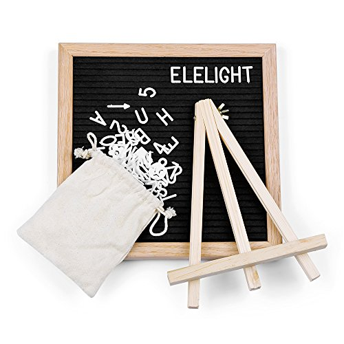 Kidsidol Tablero mensajes fieltro madera 340 letras