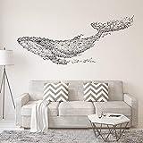 Große 165X55 Cm Schwarz Diy 3D Geometrische Wal Pvc Wandtattoos/Klebstoff Familie Wandaufkleber Wandbild Kunst Wohnkultur
