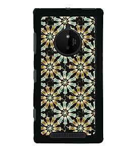PrintVisa Designer Back Case Cover for Nokia Lumia 830 (Floral Lights Hangings)