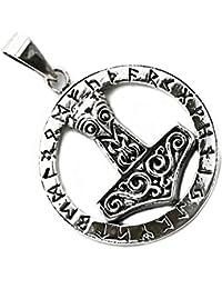 Dije Martillo de Thor Mjolnir Nordico Simbolo Vikingo Plata Esterlina 925 (P051)