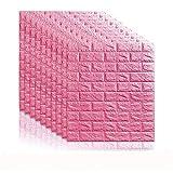 xhebnxui 70 * 77 3D Brique Sticker Autocollant Décor Mural Adhésif en Mousse...