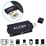 Alcey Portable All-in-One USB Smart Card Reader
