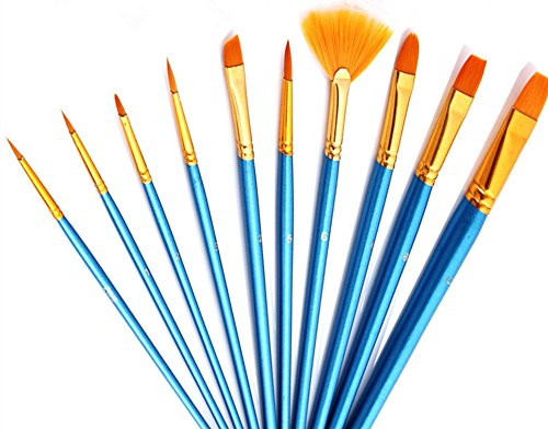 100Künstler Pinsel Qualität Wert-Set für Fine Art & Crafts Acryl Öl Aquarell Malerei Miniatur Modell Malerei Nail Körper, Gesicht malen, rund spitz Spitze Nylon Haar Pinsel Set für Kids & Künstler