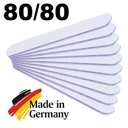 Ansicht vergrößern: 10 Stück Profifeile gerade weiss grob 80/80 Kernfarbe lila - Nagelfeile in Profi-Qualität