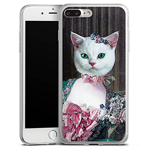 Apple iPhone 8 Slim Case Silikon Hülle Schutzhülle Kitty Cat Katze Madame Silikon Slim Case transparent