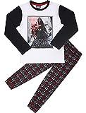 Star Wars Jungen Schlafanzug aus Baumwolle EP2082 (Weiß/Schwarz (2191), 8 Jahre-128)