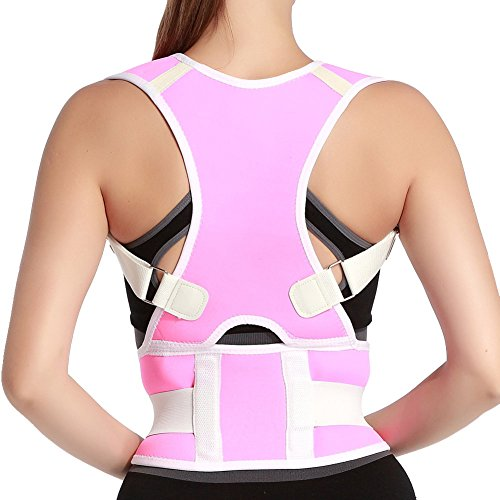 NACHEN Haltungskorrektur Geradehalter Schulter Rücken Haltungsbandage für Damen und Herren,Pink,XXL
