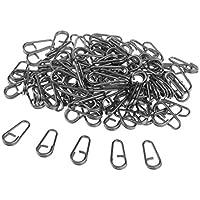 B Baosity 100x Angeln Verbinder Ring Oval Form Rig Ringe Schleifen Karpfen Angeln Zubeh/ör