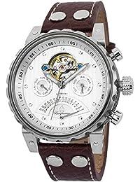 Burgmeister Limoges BM136-984 - Reloj de caballero automático, correa de piel color marrón