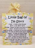 Little Bag of I'm Sorry- A Unique Fun Novelty Gift & Keepsake ! A unique way to apologise !