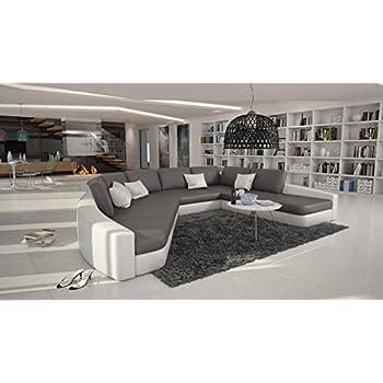 Sofa halbrund  Riesige Wohn-Landschaft XXL mit Kunstleder 380x290 cm halbrund ...