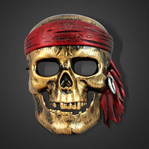 Rolle Spielen Stützen Karibische Piraten Maske Schädel Horror Ball Dress Up Requisiten,A2 ()