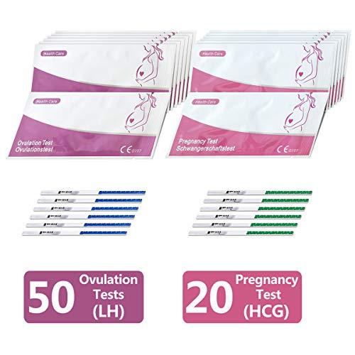 50 x Tests d'ovulation Ovulatest (20mIU/ml) + 20 x tests précoces de grossesse bandelettes...