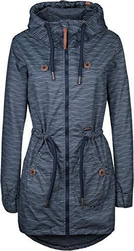 alife and Kickin Charlotte AS Coat Damen Mantel Jacke Übergangsjacke, Marine Stripes, M