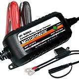 MOTOPOWER MP00205C Chargeur de Batterie Automatique 12V 800mA - Charger, Entretenir...