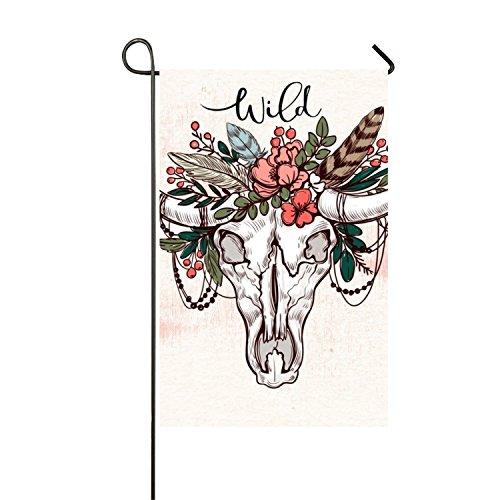 BESTAS Custom Home Jardin Drapeau Rose Pêche Abstrait Long Jardin Drapeau Bannière 30,5 x 45,7 cm 28\