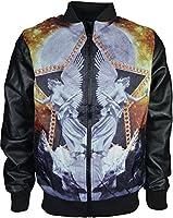 Mens Designer Summer Light Wight Zipper Jacket Hip Hop Faux Imitation Leather Long Sleeve Top