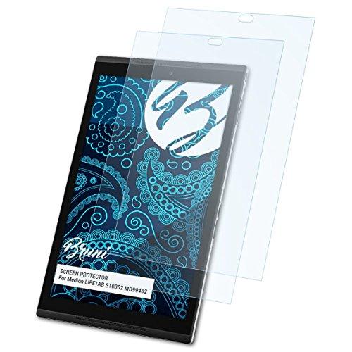 Bruni Schutzfolie für Medion LIFETAB S10352 MD99482 Folie, glasklare Bildschirmschutzfolie (2X)