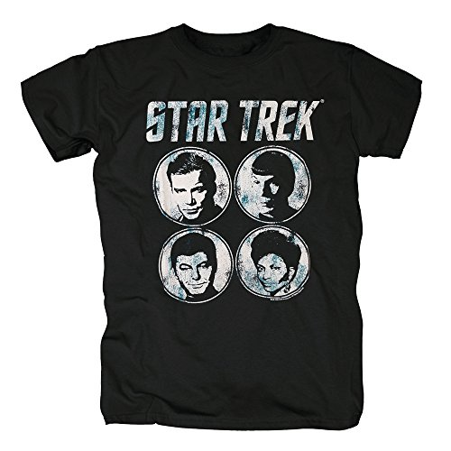 TSP Star Trek - Faces T-Shirt Herren S Schwarz