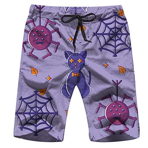 Süße Cat Star Eyes Animal Holidays Herren Badehose Quick Dry Beach Shorts mit Taschen M - Barbie Holiday Angel