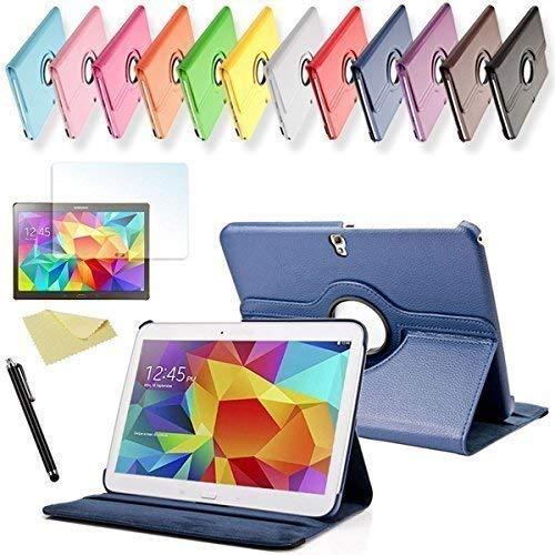 SVS 3in1 SET Tab S 10.5 360° Schutzhülle + Folie + Pen Samsung Galaxy Tab S SM-T800 / T801 / T805 Tasche Etui (Dunkelblau)