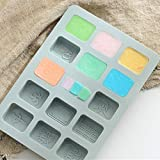 HoneybeeLY Chinesische Mahjong-Form-Eiswürfelform, Easy-Release-Silikonform für Eiswürfel,...
