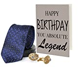 #8: TiedRibbons® Men's Tie with Cufflinks Set and Greeting Card | a birthday gift for boyfriend