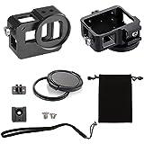 Best GoPro HERO 6 5 Action Sports Camera 100 CNC Aluminum Frame Protective Solid Shell Skeleton Housing Case Mount With Standard UV 52mm Filter Black (Black)