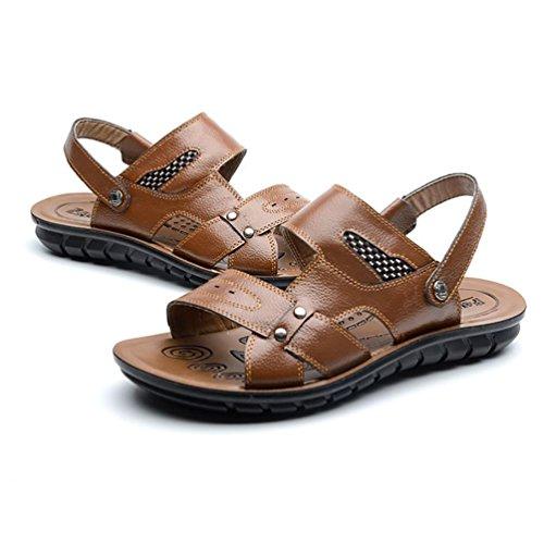 SHANGXIAN Herren Schuhe New Style heißer Verkauf Outdoor Casual Komfort Leder Strandsandalen Braun Schwarz Orange Yellow