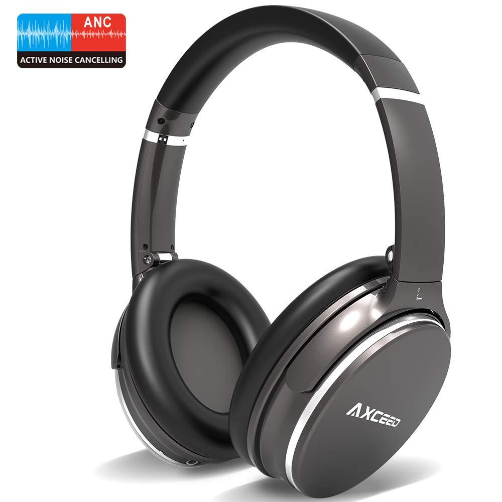 Auriculares Bluetooth Inalámbricos – Auriculares inalámbricos de Diadema Plegable, la Última Técnica de Física Cancelación de Ruido, HiFi Estéreo Bajos Profundo Sonido