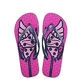 Hotmarzz Damen Zehentrenner Mode Sandalen Schmetterling Tiere Sommer Strand Hausschuhe Zuhause Rutschen Size 35 EU/36 CN, Rose Rot