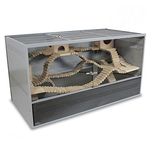 Montana Cages ® | Nagerkäfig, Käfig aus Metall für Nager Vivario 120 - Antik/Platinum