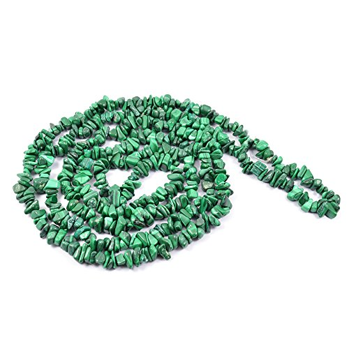 Reiki Crystal Products Malachite Crystal / Stone Chip Mala / Necklace Reiki Chakra Healing Gemstone