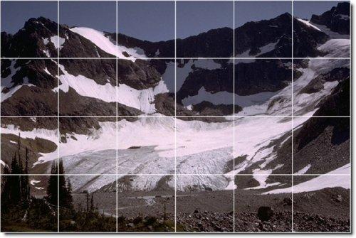 MONTAñAS FOTO COCINA TILE MURAL 11  48X 182 88CM CON (24) 12X 12AZULEJOS DE CERAMICA