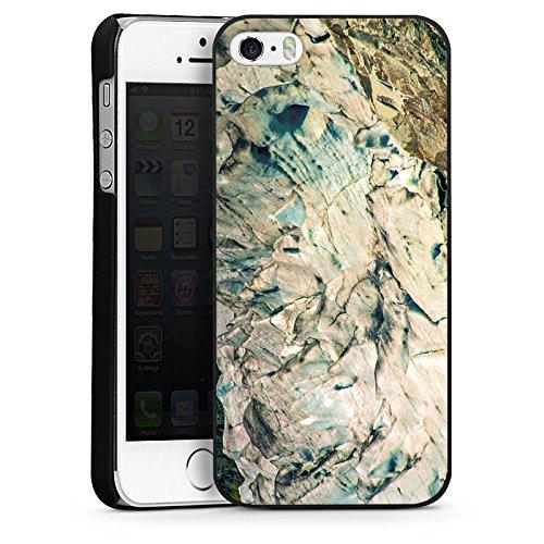 Apple iPhone 4 Housse Étui Silicone Coque Protection Pierre Grain Rochers CasDur noir