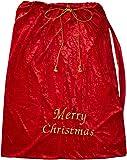 Weihnachts Geschenkesack Samt ca. 90x75cm mit goldener Schrift und Kordel / Weihnachtssack / Weihnachtsmannsack / Geschenksack