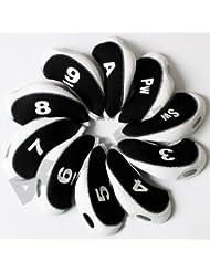 Andux capuchon fer de golf 10pcs noir/blanc MT/s04 avez le numéro