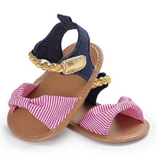 cinnamou Baby Sandalen Woven Schuh Sommer Freizeitschuhe Outdoor Sneaker Cartoon Anti-Rutsch-weiche Sohle Kleinkind Schuhe (6-12 Monate, Rose)