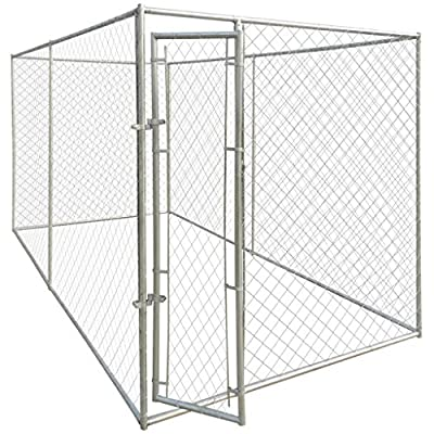 Candora Outdoor Walk In Chicken Dog Pen Run Cage Coop House Kennel Large Metal from Candora