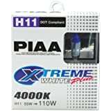 PIAA 15211 H11 110W Xtreme White Bulb Twin Pack
