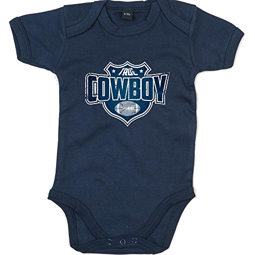 Babybody American Football Super Bowl NFL Mädchen und Jungen Kurzarmbody, Farbe:Blau (Nautical Navy BZ10);Größe:12-18 Monate ()