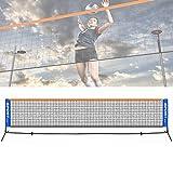 Jilijia (NO Shelf) 3-6 Meter Verstelbare Opvouwbare Mini Tennis & Badminton Combi Volleybal Net Kids Junior Draagbare Tuin Mini Tennisnet voor Match Training Net(NO Shelf)