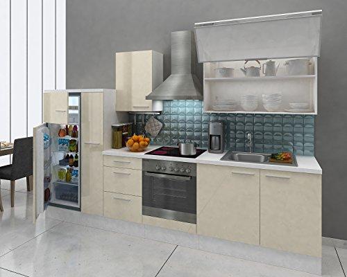 respekta Premium Instalación de Cocina Cocina 310 cm Blanco ...