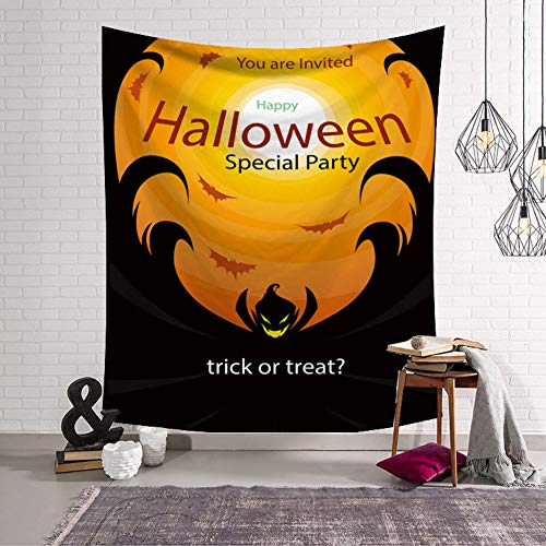 Halloween Kürbis Wandteppich Wandbehang Wandteppich Decke College Wohnheim Wandbehang für Wohnzimmer Schlafzimmer Bauernhaus Dekor